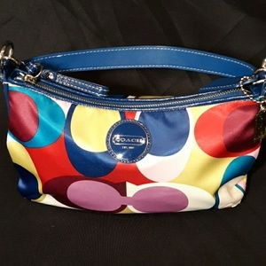Coach Multicolor Scarf Purse